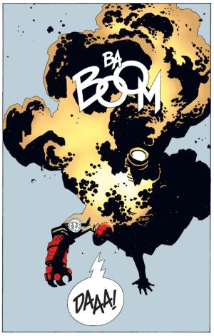 Hellboy explosion