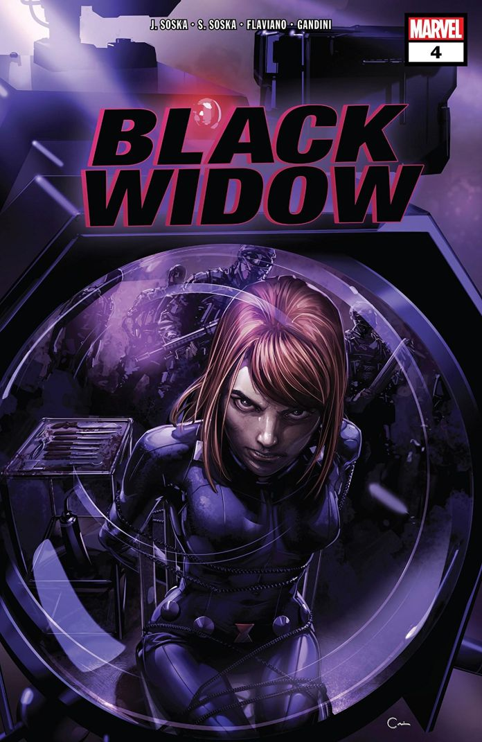 Black Widow #4 cover by Clayton Crain