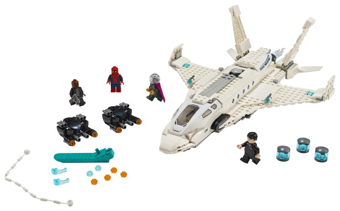 Lego Spider-Man: Far From Home Stark Jet Happy Hogan Mysterio Nick Fury