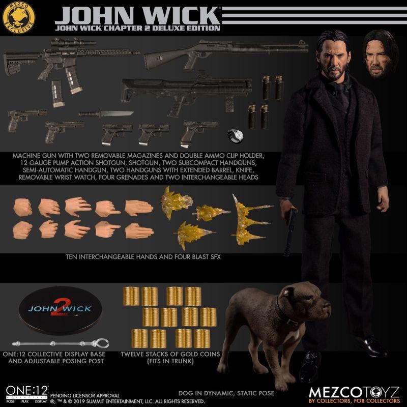Mezco One:12 Collective John Wick Action Figure