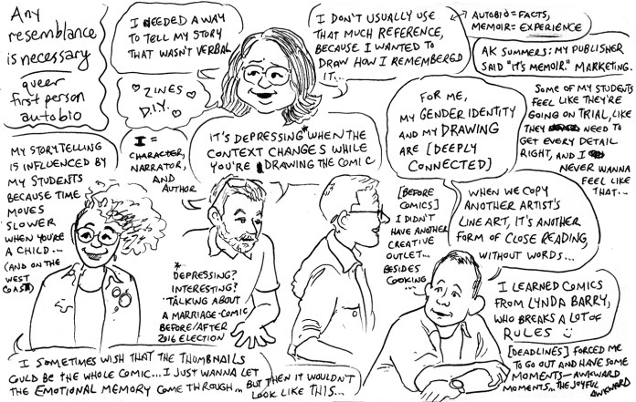 Queers & Comics conference comic 1