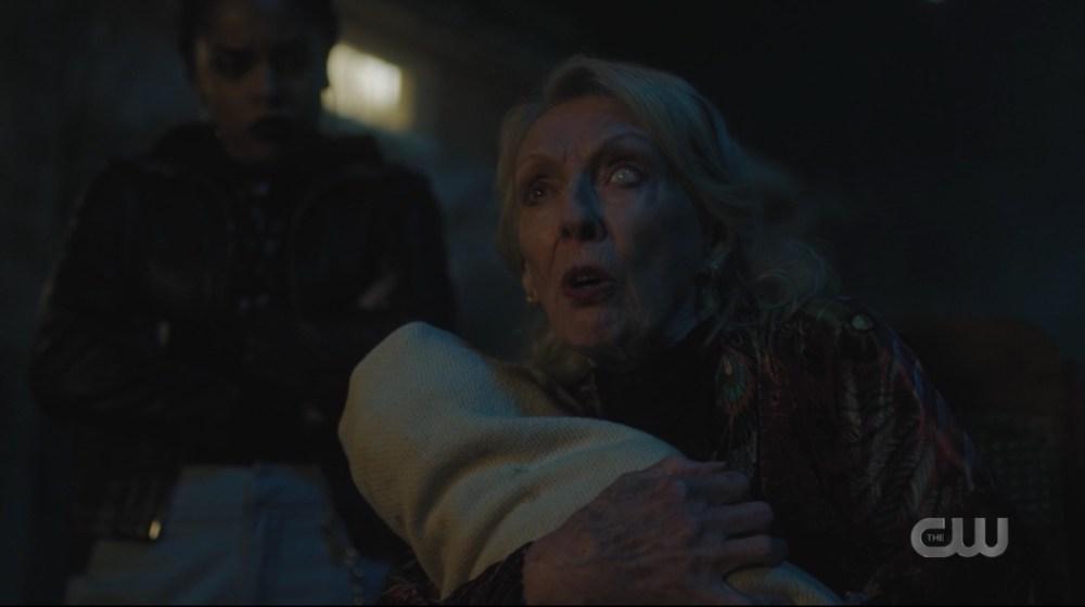 Nana Blossom holding a baby
