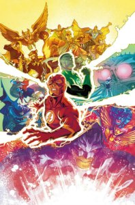 The JSA as depicted by Francis Manapul in the cover to Justice League #31.