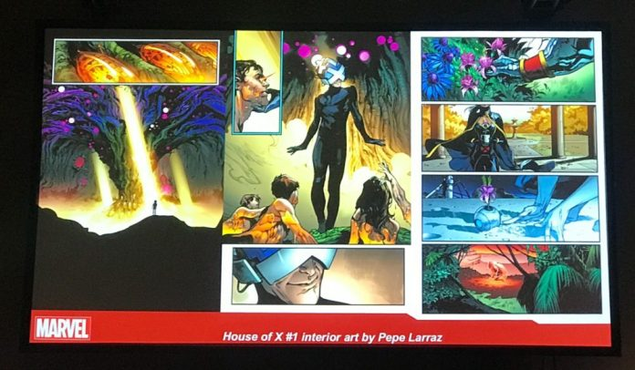 "Marvel's ""Next Big Thing"": House of X #1 interior art by Pepe Larraz"