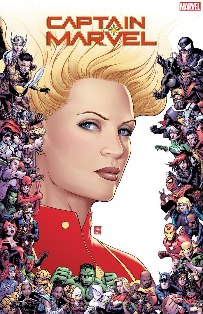 80th anniversary frame variants - Captain Marvel #9 by John Tyler Christopher