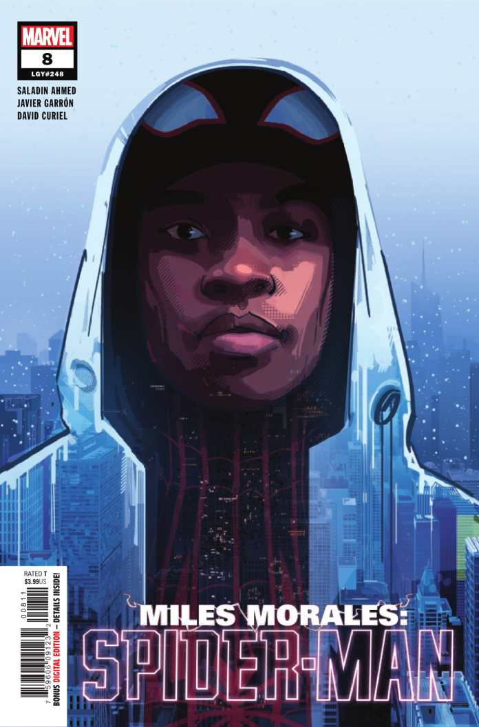 Miles Morales: Spider-Man #8 cover art by Patrick O'Keefe