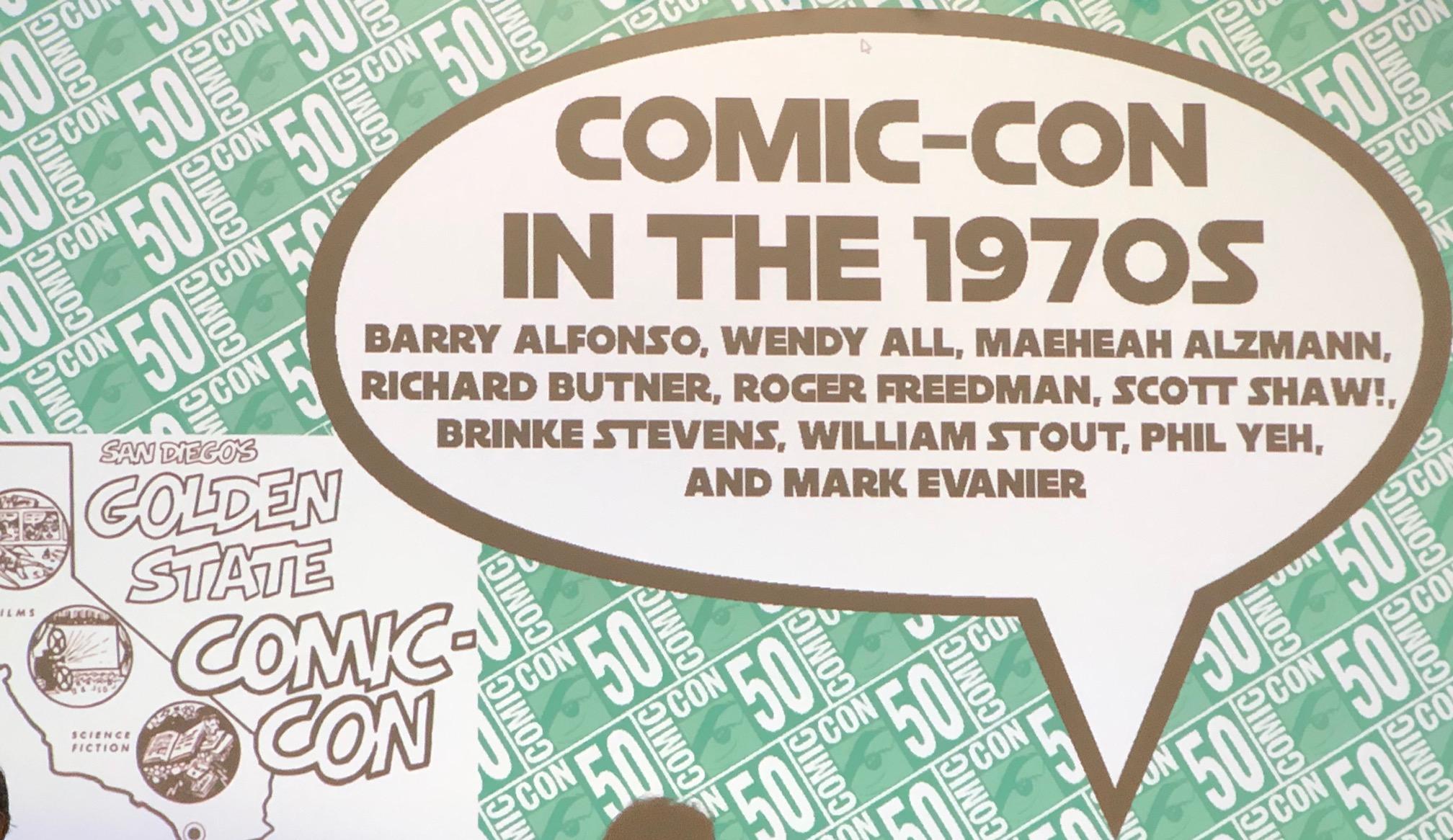 Comic-Con In the '70s panel