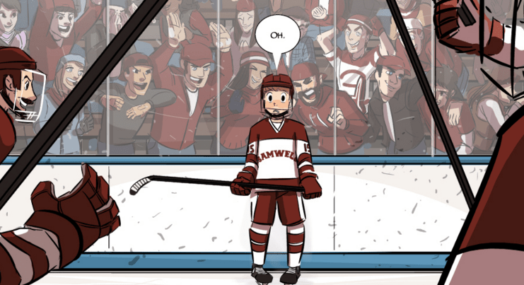 Check Please follows Bitty's hockey career as well as his queer romance