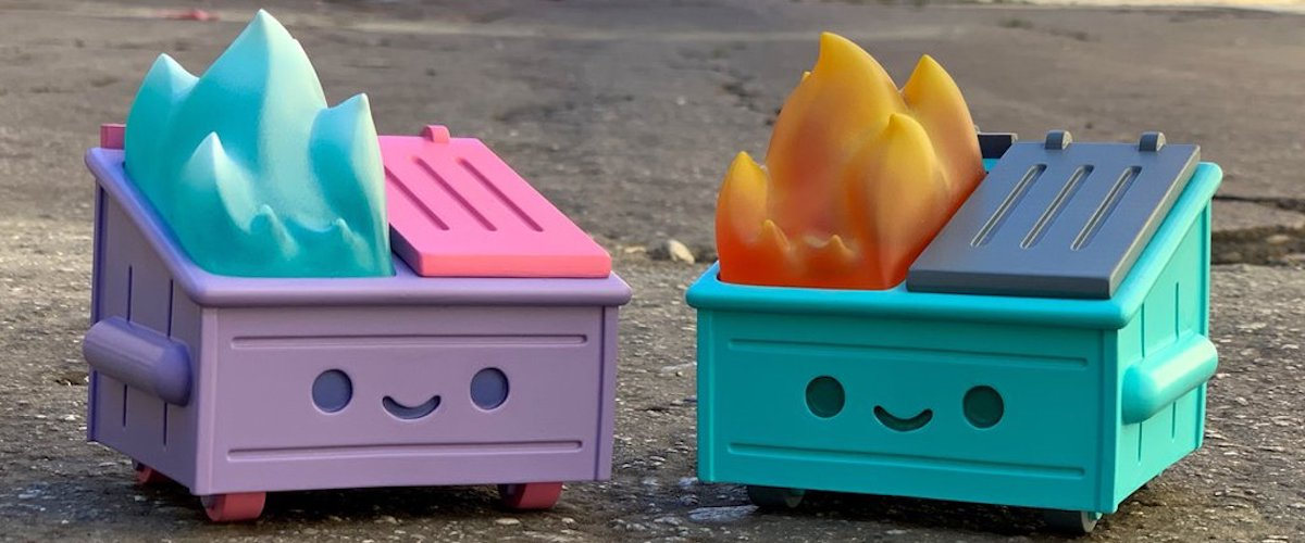 SDCC '19: Let it burn with this exclusive Dumpster Fire toy