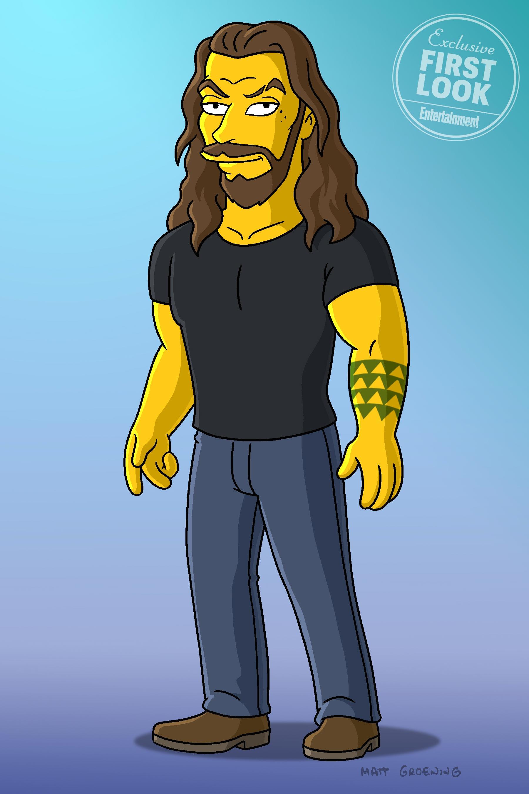 Jason Momoa Simpsons