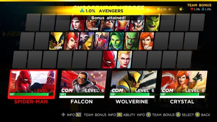 ultimate alliance 3 quality roster