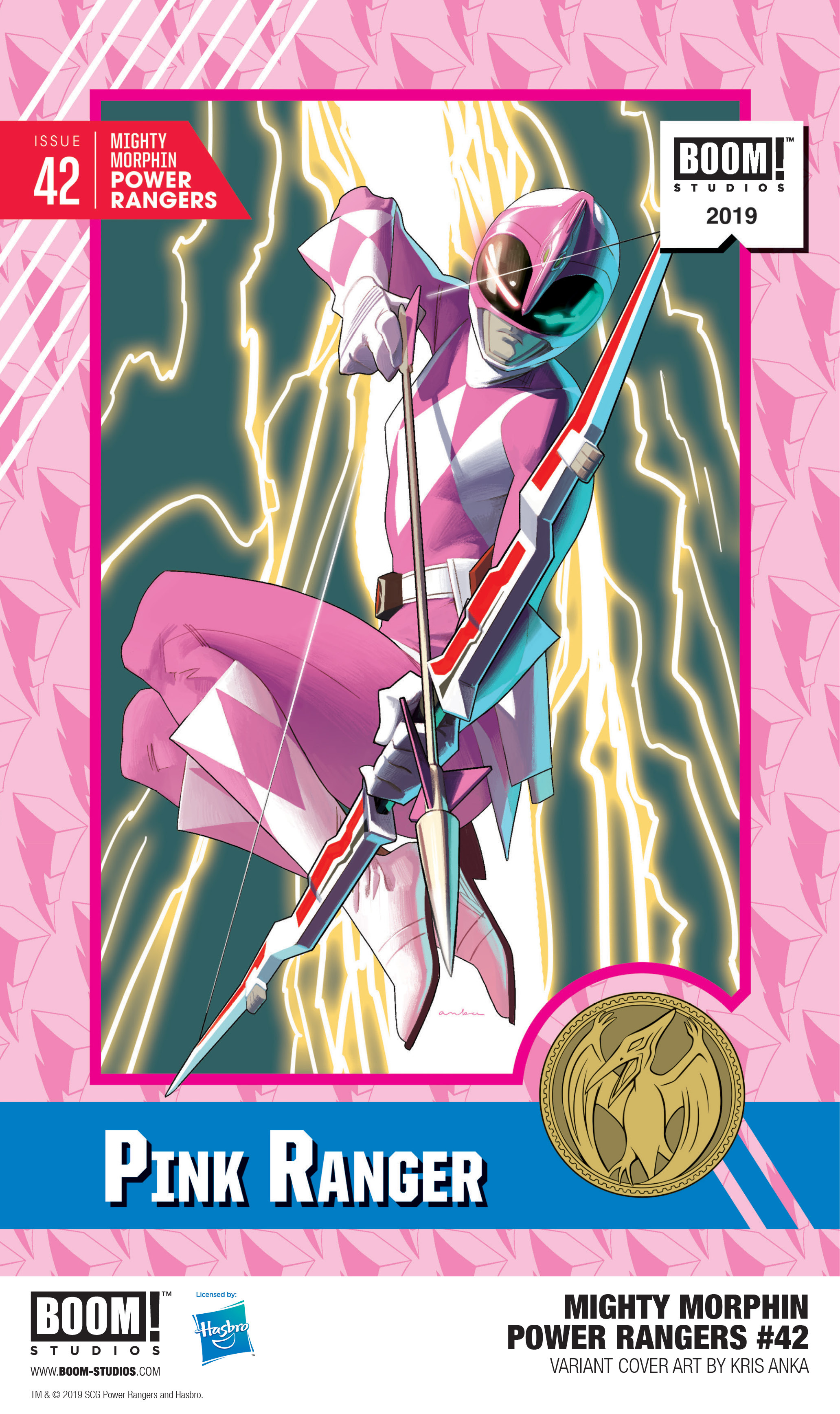 Mighty Morphin Power Rangers Trading Card variant