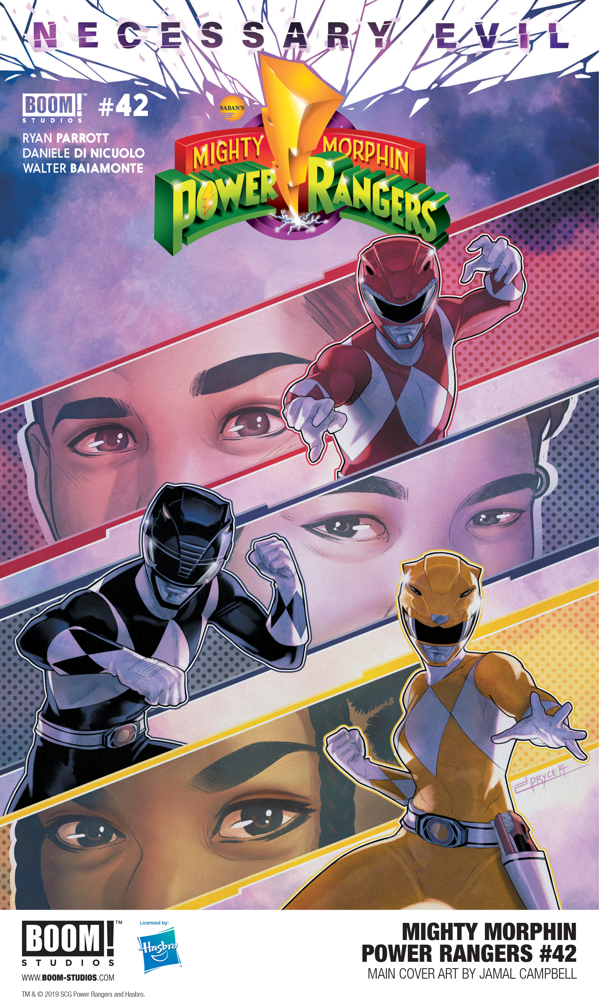 Mighty Morphin Power Rangers #42 Main Cover