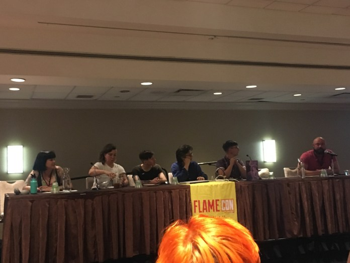 Sickening! Queer Horror Comics panel at Flame Con 2019