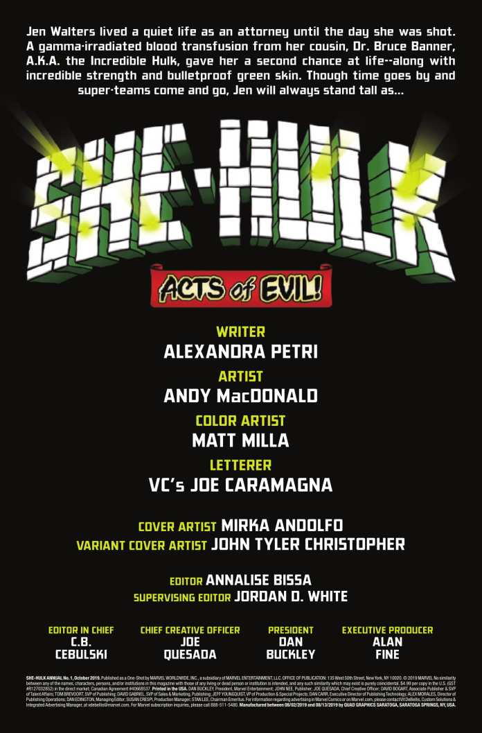 She-Hulk Annual (2019) preview