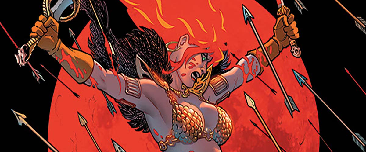 Dynamite is set to release the first volume of Mark Russell's RED SONJA run