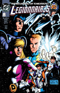 The new Cosmic Boy, Apparition, Live Wire, Saturn Girl and Triplicate Girl