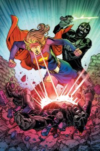 Supergirl using heat vision on an agent of Leviathan