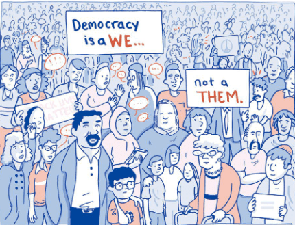 "This is What Democracy Looks Like -- a ""we,"" not a ""them."""