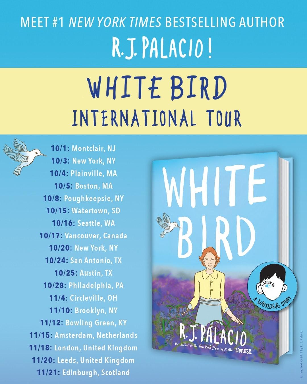 White Bird book tour dates