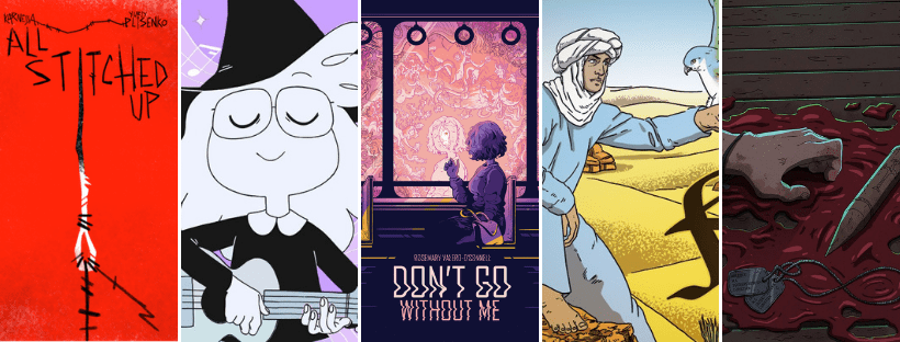 Crowdfunding Comics Round-Up: All Stitched Up - Ukelele Spells - Don't Go Without Me - The Lost Falcon - Alex Priest #5