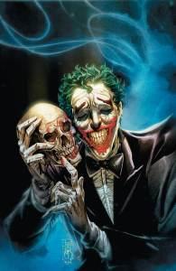 Joker holding a skull