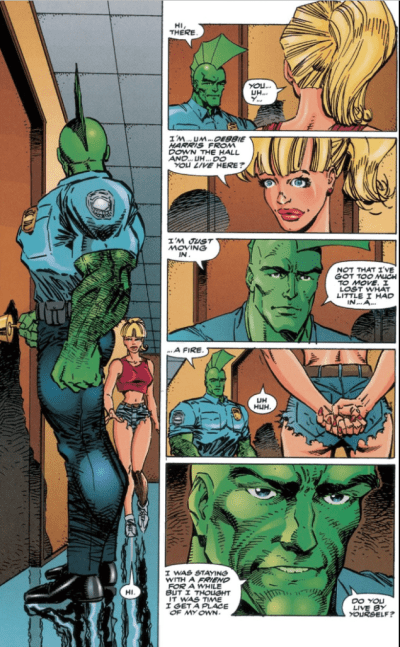 Savage Dragon hallway
