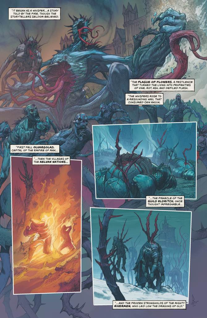 The beginning of the Plague of Flowers in the Last God #1