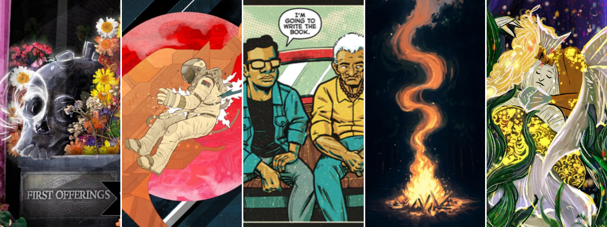 Crowdfunding Comics 10/11 - First Offerings - Neverender - La Voz de M.A.Y.O. #3 - Campfire Stories - Strange Waters