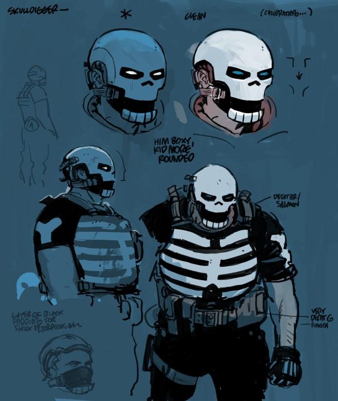 Skulldigger design by Tonči Zonjić