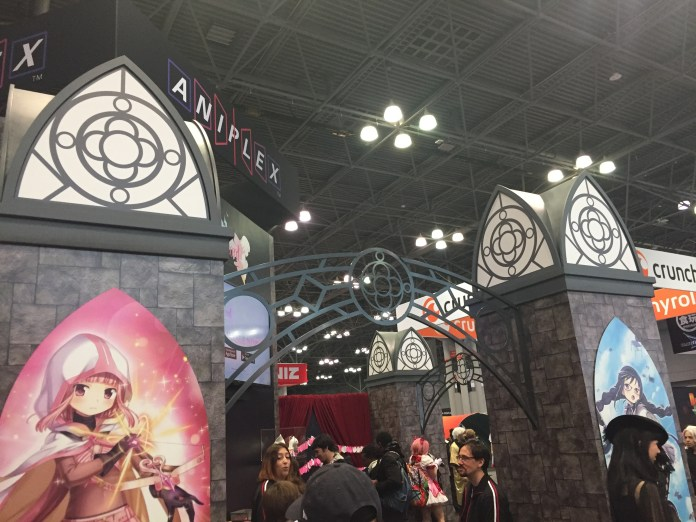 One of Aniplex's displays at AnimeNYC '19