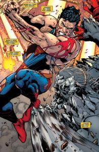 Dark Multiverse Superman fighting Doomsday