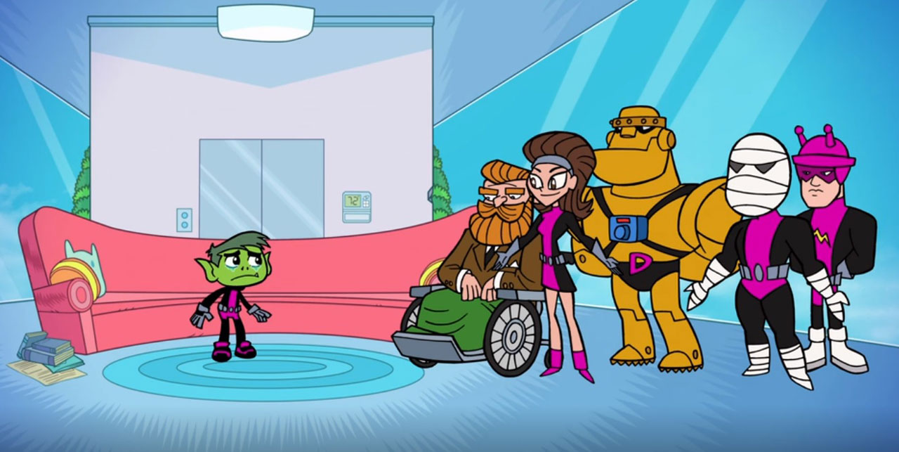 Beast Boy Visits His Doom Patrol Family In Teen Titans Go The Beat