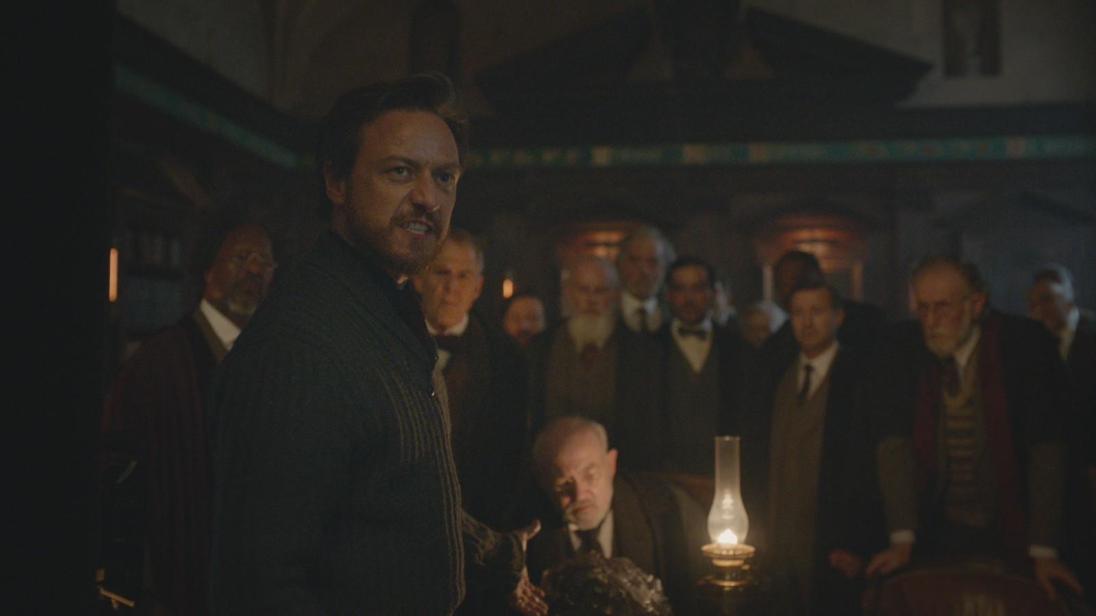James McAvoy and Clarke Peters in His Dark Materials S1E1