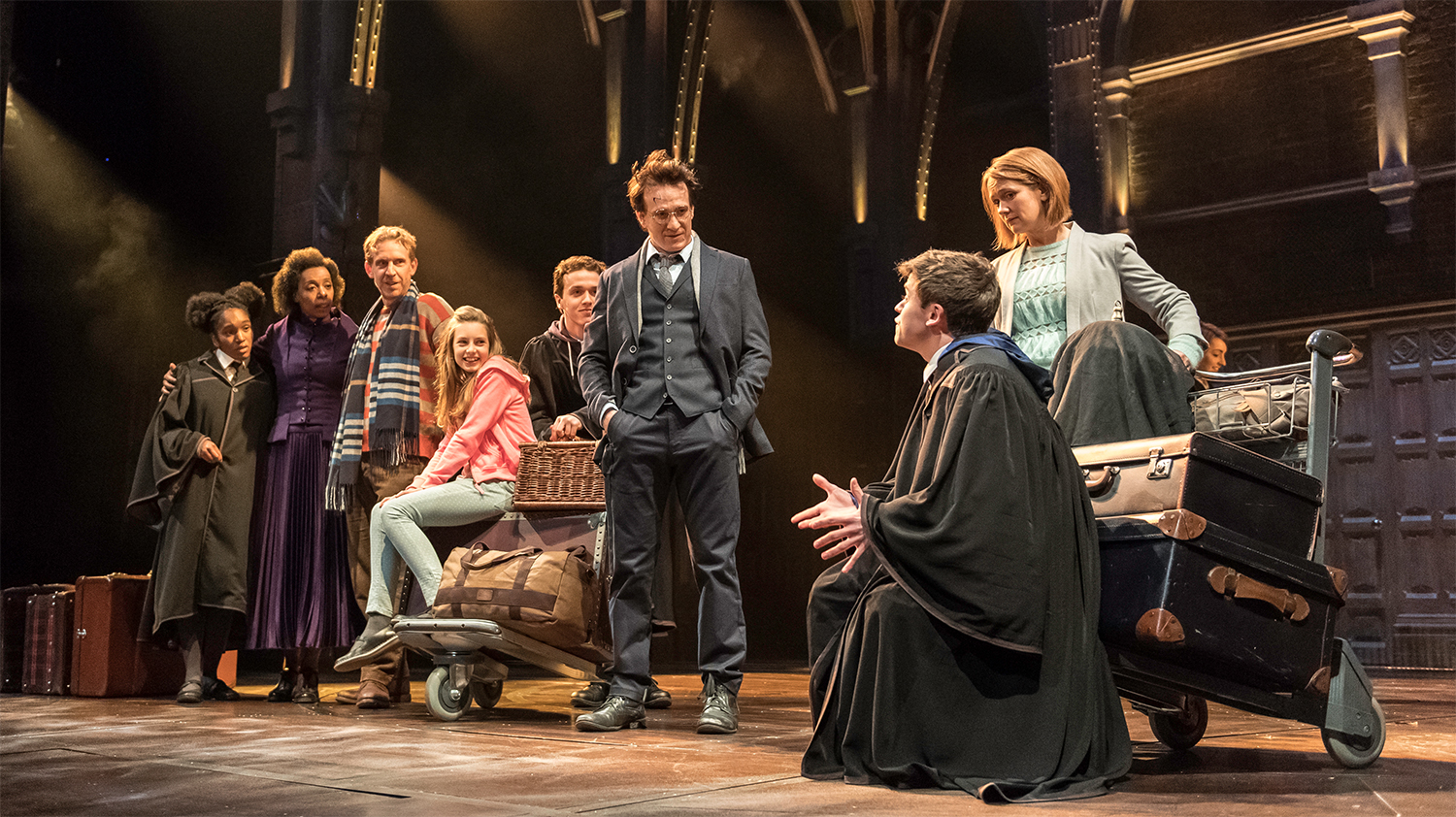 The main cast of Harry Potter and the Cursed Child, a notable nerd theatre show