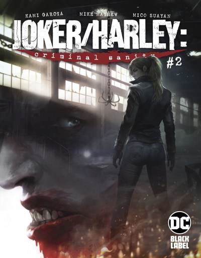 Harley in front of Joker's silhouette