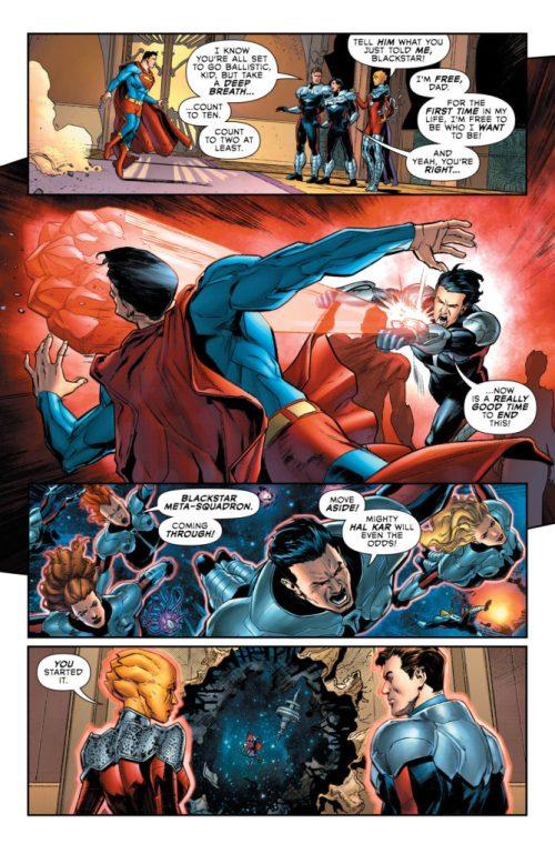 Superboy against Superman