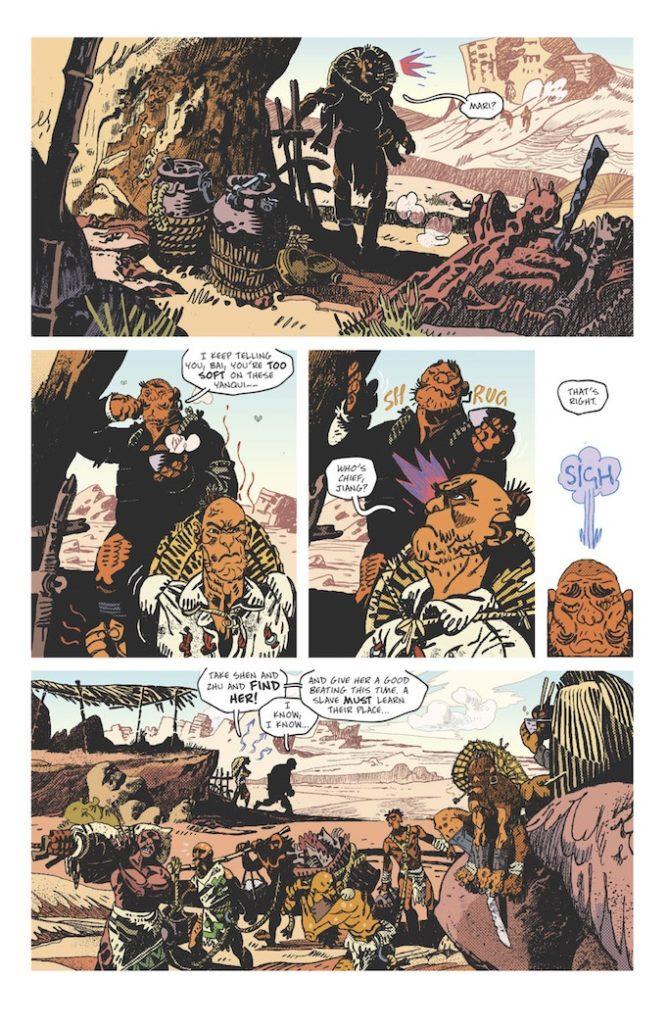 protector comic page