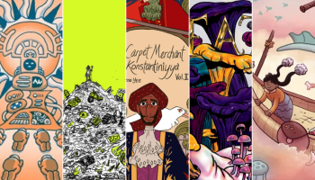 Crowdfunding Comics - Weird Futures - Ecatepunk - The Carpet Merchant of Konstantiniyya - Dirty Diamonds: Death - Skychaser