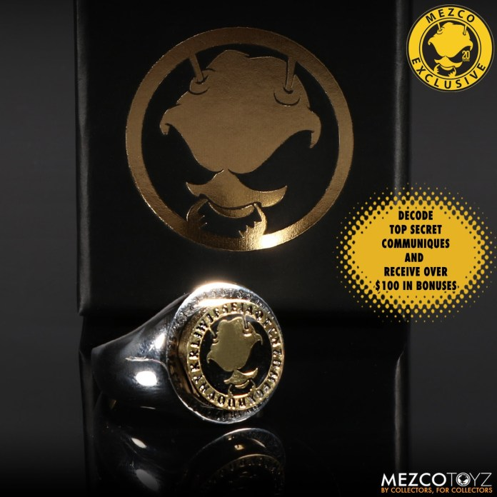 Mezco Secret Decoder Ring from Toy Fair 2020