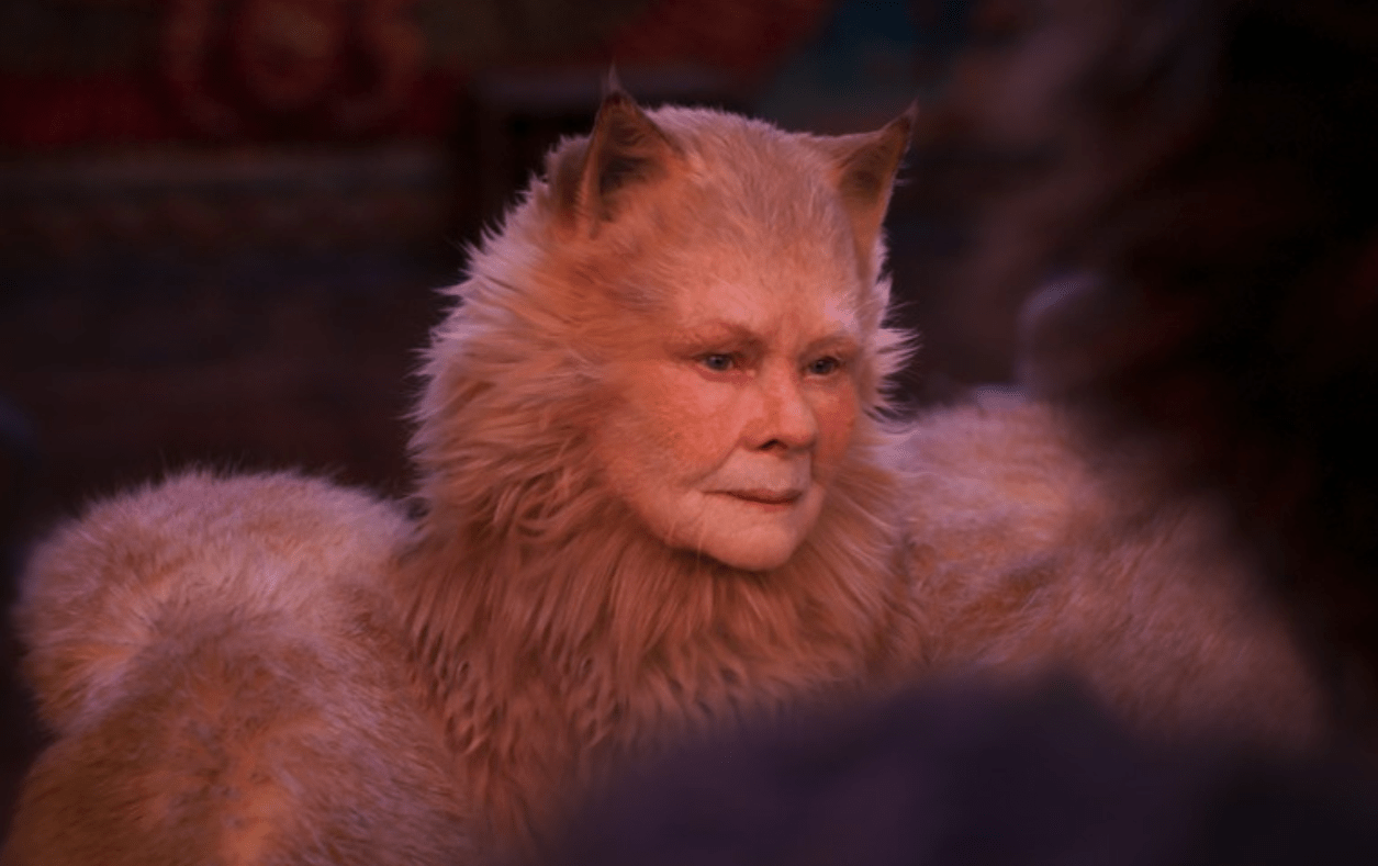 Dame Judi Dench herself in Cats