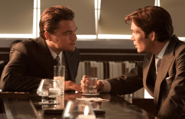 Leonardo DiCaprio and Cillian Murphy in Inception