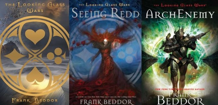 The covers of the Looking Glass Wars series