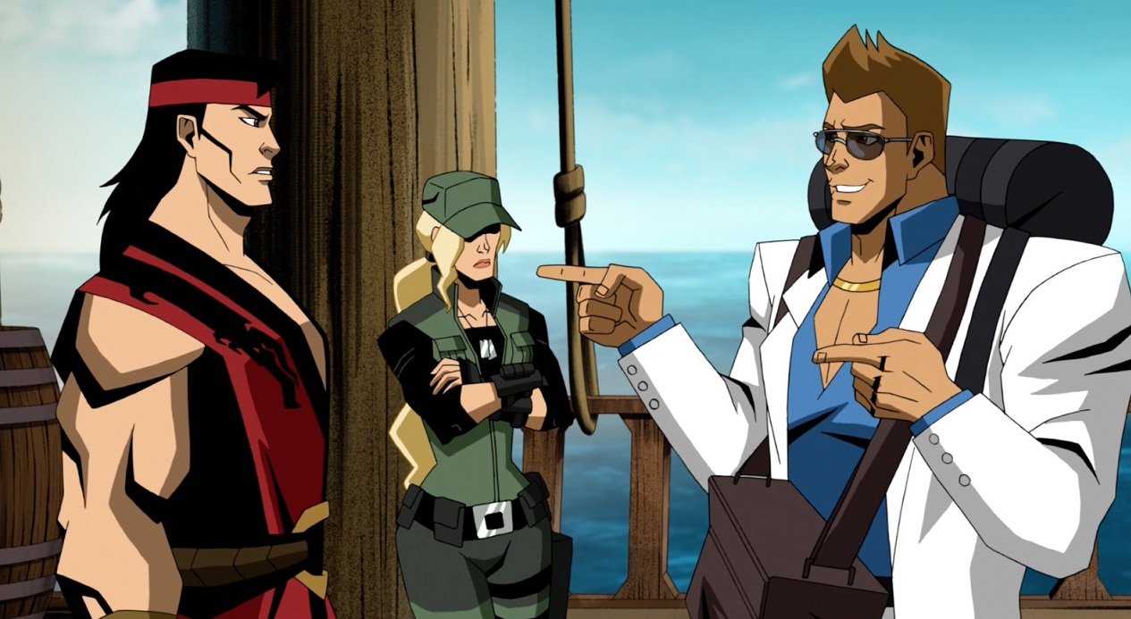 Johnny Cage Meets His Co Stars In Mortal Kombat Legends Clip
