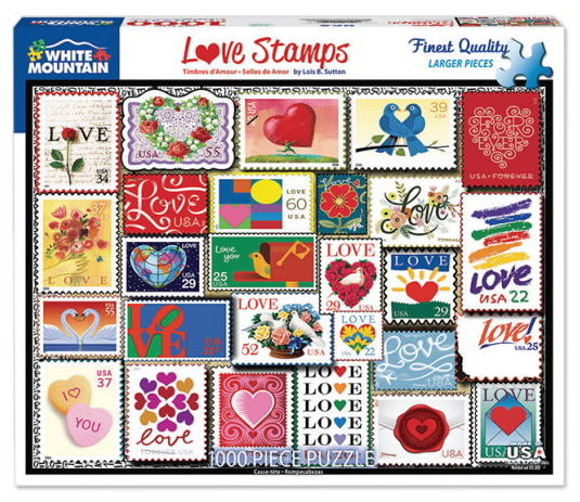 USPS Love stamps puzzle