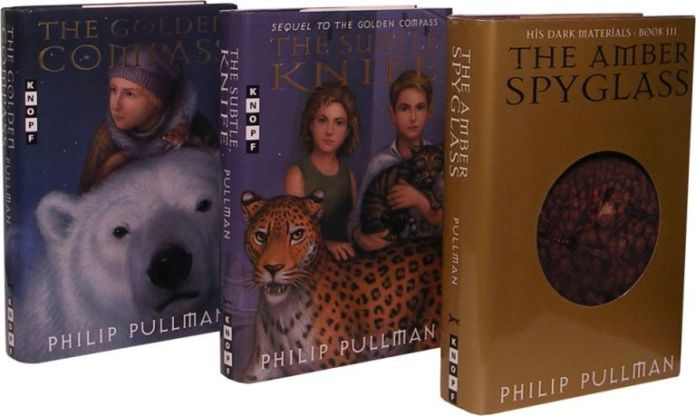 Covers of His Dark Materials series