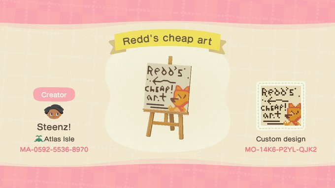 Animal Crossing Red sign