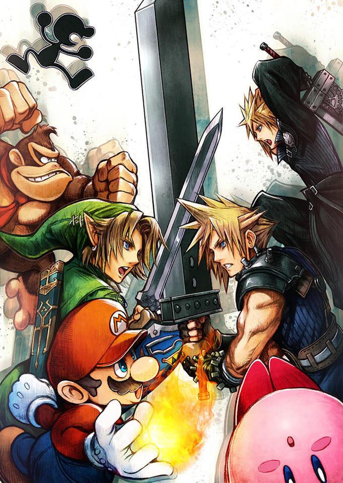 Smash Bros. crossover Link Cloud