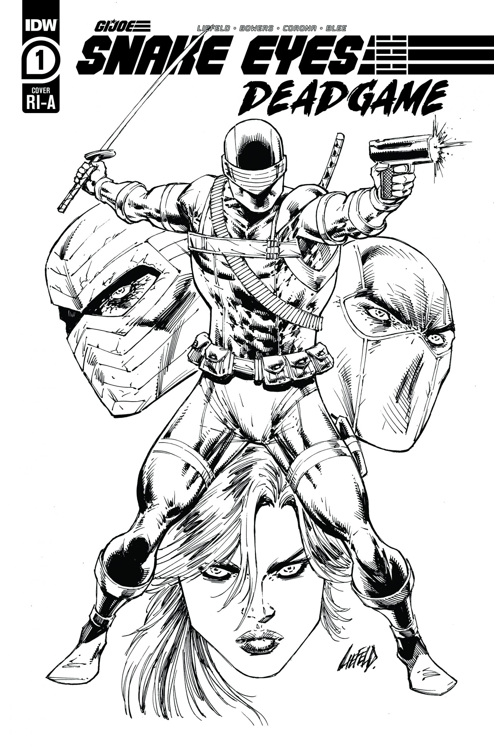 Snakes Eyes Deadgame #1 Cover RI-B by Rob Liefeld