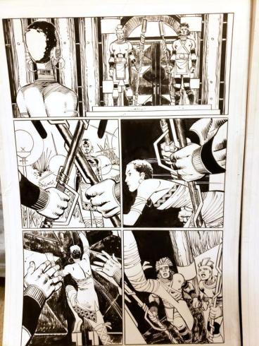 Black Panther #2 Original Art - 1st Shuri Original Art by John Romita Jr and Klaus Janson and Reggie Hudlin Page #8